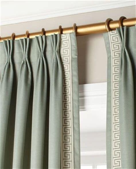 greek key curtains epinch pleat curtains with greek key trim lined and