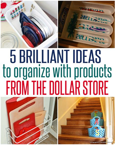 dollar store organization 5 ways to organize with dollar store items