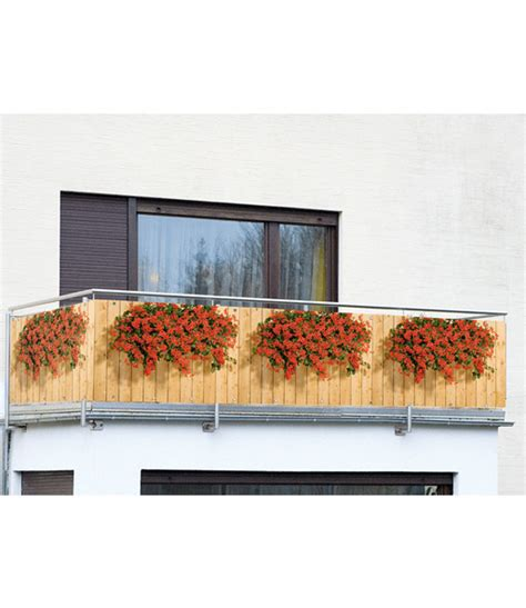 balkon sichtschutz geranien gartendeko bei baldur garten
