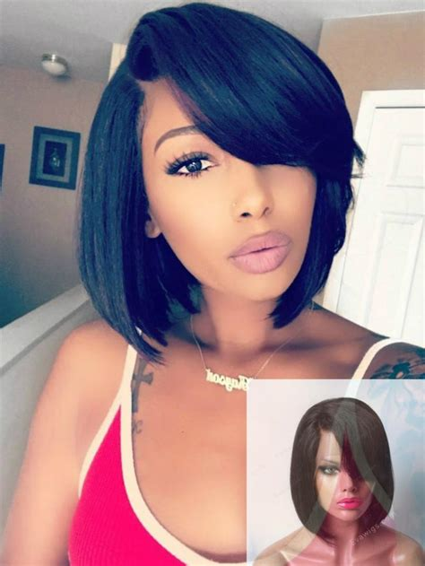 pretty bobs hairstyle hair style baby hair lace wigs human hair cute side bangs bob lace front human hair wig human hair