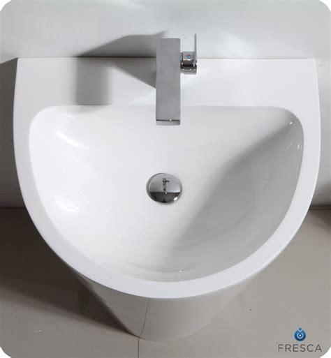 fresca parma pedestal sink bathroom vanity white color