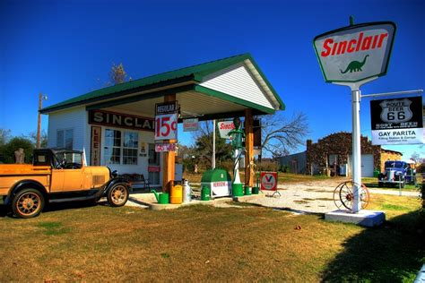 route 66 gas station panoramio photo of route 66 replica gas station