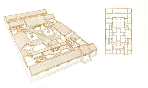 traditional chinese house floor plan typical chinese courtyard house vernacular architecture