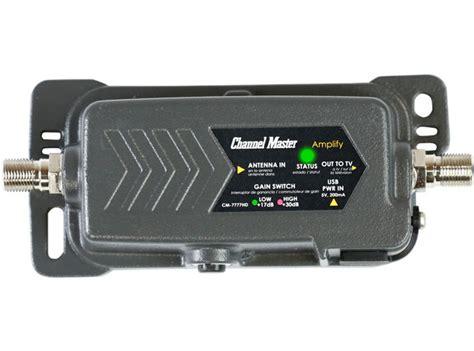 Booster Tv Digital channel master lify tv antenna lifier adjustable gain prelifier 7777hd ebay