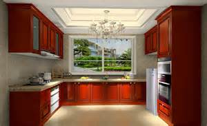 Home Kitchen Furniture model home european style kitchen with solid wood furniture new home