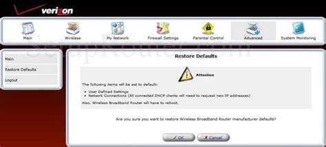 reset verizon westell router westell a90 9100vm15 10 verizon screenshots