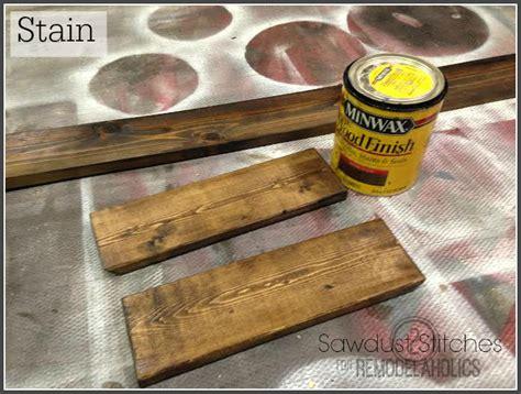 How To Stain A Shelf by Turn An Ikea Shelf Into A Pottery Barn Ledge Remodelaholic Bloglovin