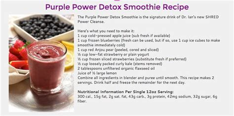 Dr Ian Detox by Dr Ian Smith On Dr Ian Smith Purple And Smoothie