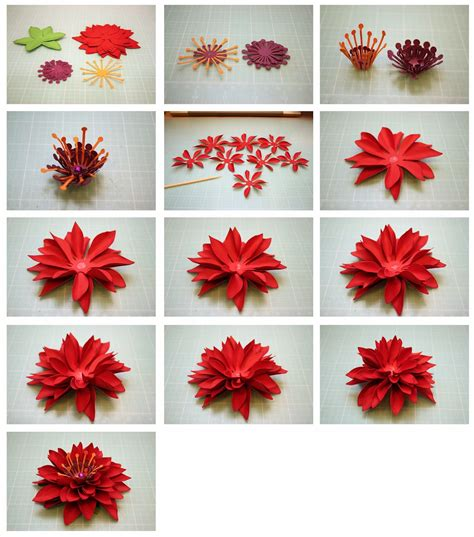 How To Make A 3d Flower Out Of Construction Paper - 3d paper flowers crepe paper and paper craft