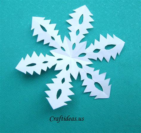 Paper Snowflake Craft - craft ideas tree snowflakes craft ideas