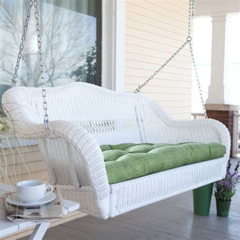 Coral Coast Casco Bay Resin Wicker Porch Swing With