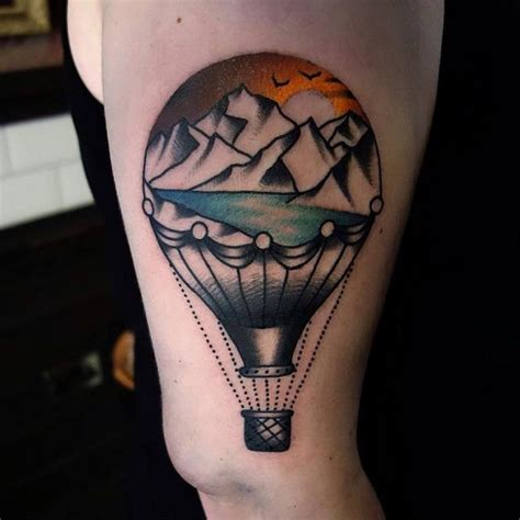 hot tattoo air balloon tattoos designs ideas and meaning