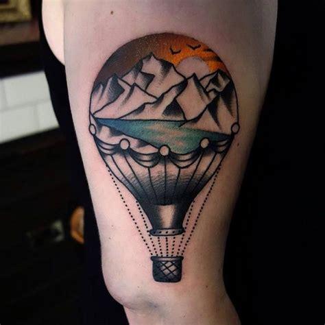 balloon tattoos designs air balloon tattoos designs ideas and meaning