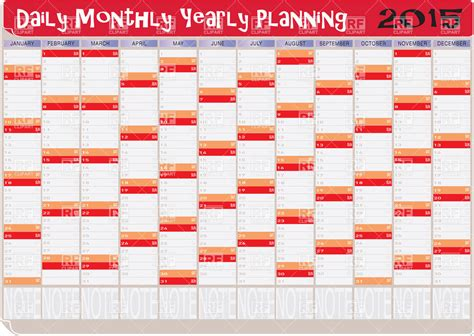 daily planner january 2015 2015 year calendar for daily planning vector image 38556