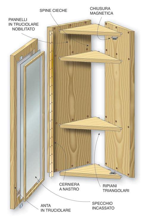 costruire armadietto in legno come costruire un mobiletto angolare bricoportale fai