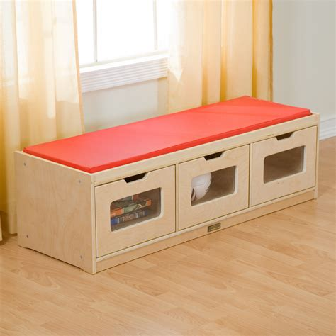 kids toy benches guidecraft easy view storage bench toy storage at hayneedle