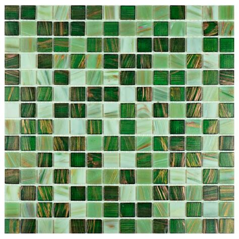 Grout Colors Merola Tile by Merola Tile Coppa Forest 12 In X 12 In X 4 Mm Glass