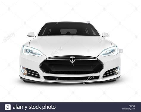 2017 white tesla model s 2017 tesla model s luxury electric car front view isolated
