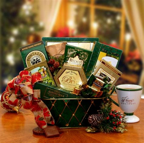 christmas trimmings holiday food gift basket gift baskets