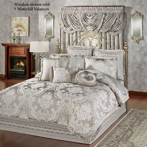 silver comforters bellamy silver gray comforter bedding