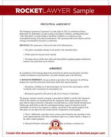 antenuptial contract template prenuptial agreement form with sle prenup agreement