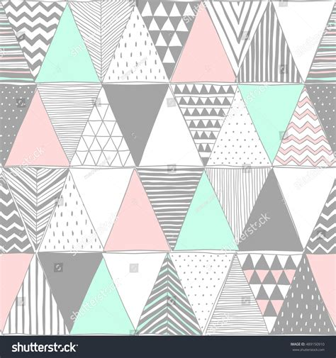 pastel graphic pattern pastel colors vector seamless pattern triangles stock