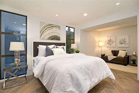 california coastal style home staging design  white