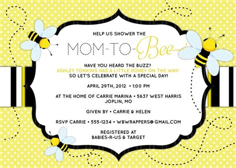 Bee Baby Shower Invitations by 17 Best Images About Baby Shower On Baby
