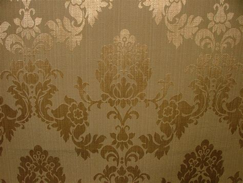 antique gold madagascar designer curtain brocade damask