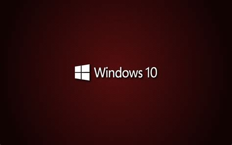 wallpaper windows 10 red windows 10 red carbon hd wallpapers