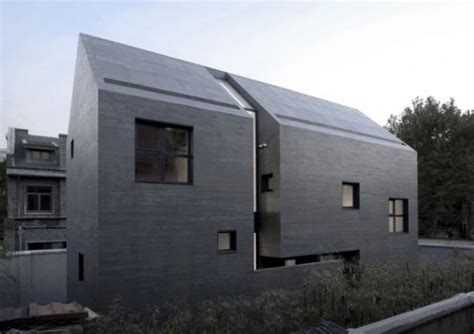concrete home designs minimalist in germany modern house designs minimalist house with concrete frame slit house digsdigs