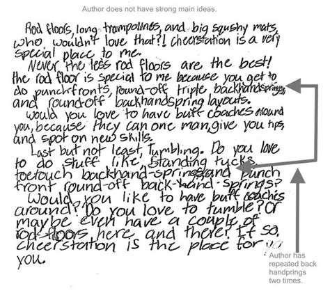 4th grade essay sles cheer station expository sle student writing