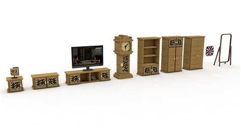 minecraft living room furniture cinema 4d minecraft furniture living room models pac