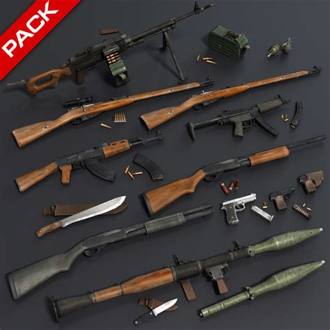 Low Max Gardis Original Japan weapon rifle shotgun 3d max