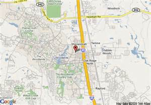 where is the woodlands on the map map of residence inn by marriott houston the woodlands