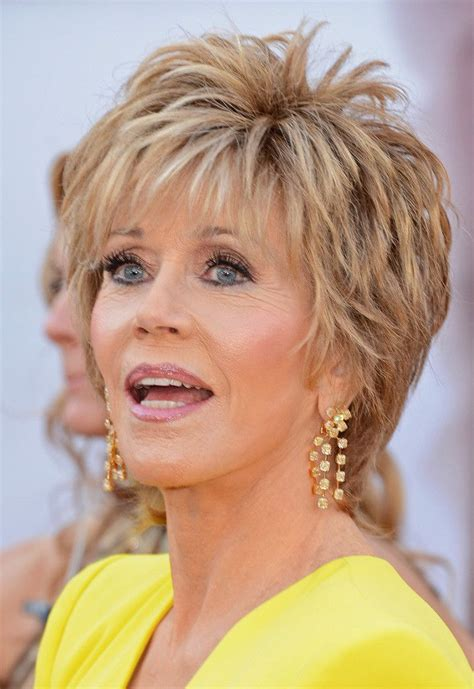 hair styles women over 70 diamond face 64 best jane fonda images on pinterest jane fonda