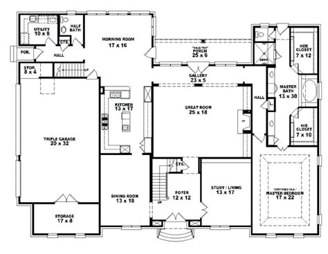 1 4 bedroom house plans one house plans with 4 bedrooms