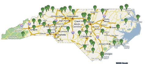 map of carolina state parks state parks of carolina
