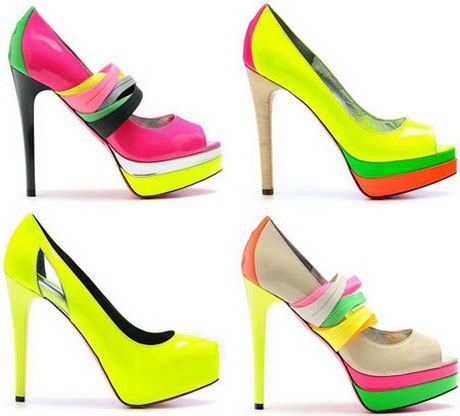 bright patterned heels bright colored heels