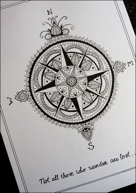 Compass tattoos and designs page 34