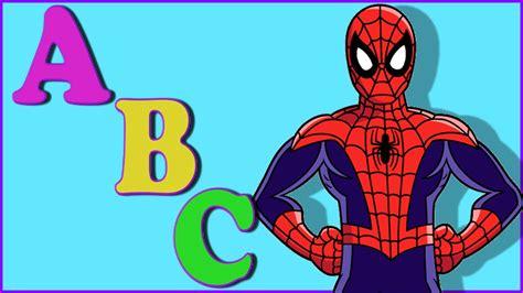 Spiderman Cartoon ABC Songs For Children   Spiderman ABC