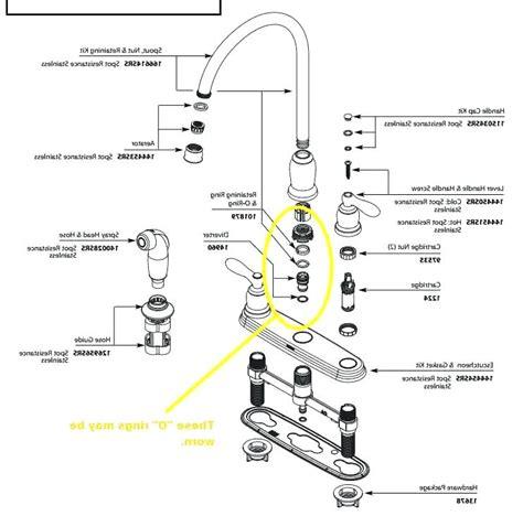 older moen single handle kitchen faucet parts wow blog