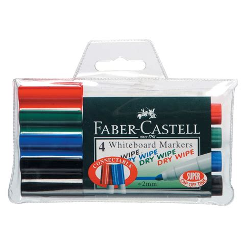 Faber Castell Connector faber castell connector whiteboard markers assorted 4 pack