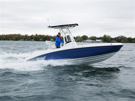 yamaha boats test 2018 yamaha 210 fsh tested reviewed on us boat test