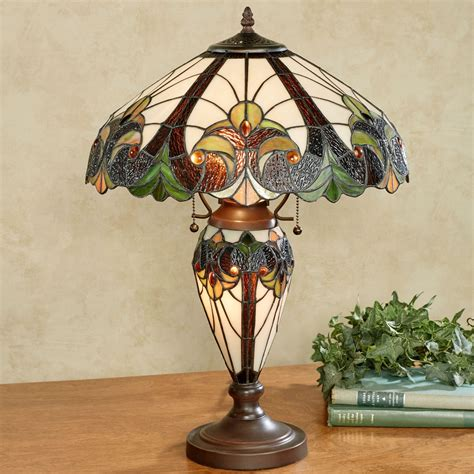 Stone Fireplace Decor clavillia stained glass table lamp with cfl bulbs