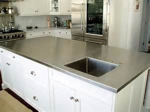 stainless steel countertop  integral sink faucet