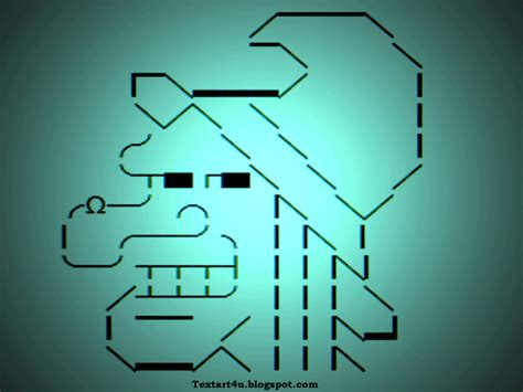witch face unicode text art  social network cool ascii text art