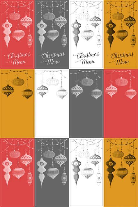 printable christmas menu cards freebie fridays 71 printable christmas menu cards the