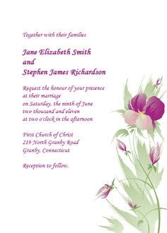 Free Pdf Download Simply Elegant Swirls Border Wedding Invitation Easy To Edit And Print At Orchid Wedding Invitation Template