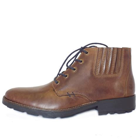 mens casual brown leather boots rieker sexton 36013 25 s casula lace up winter boots